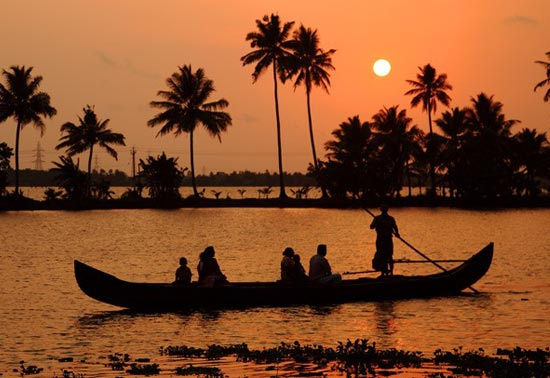 Sunset at Alleppey Backwaters
