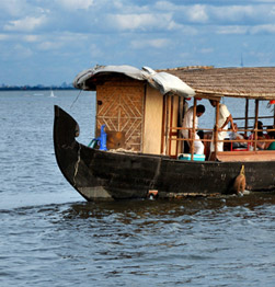 Pole boat ride on the Backwaters of Kochi Image