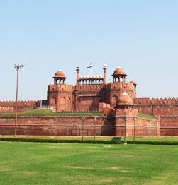 Old and New Delhi - The magnificent Red Fort, India's largest mosque Jama Masjid, and Gandhi's crematorium Raj Ghat