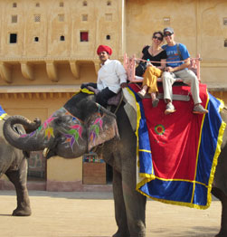 An exotic elephant ride into Jaipur's Amber Fort